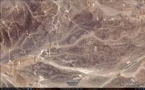 """L'immagine catturata da Google Hearth di un'ampia area interessata dai """"geoglifi"""" e """"interconnessi"""" tra loro."""