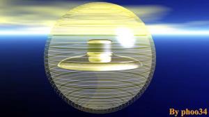Ipotetica bolla dimensionale attorno ad un UFO