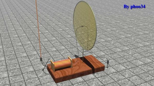 Modello estrapolato dalla descrizione di una presunta proto radio della metà del 1800 (retro)