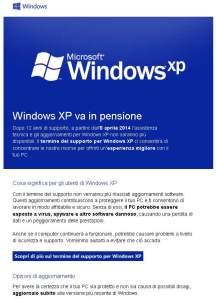 Comunicato di Windows agli utenti
