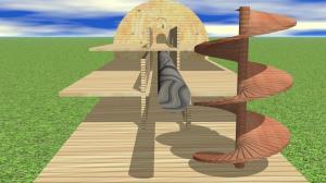 Rampa di carico e compartimenti dell'arca.